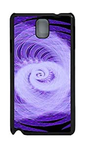 Samsung Note 3 Case Abstract Rotating Light PC Custom Samsung Note 3 Case Cover Black