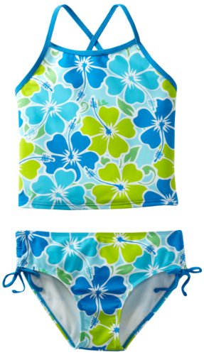 Kanu Surf Big Girls' Florence Tankini Swimsuit, Aqua, 7