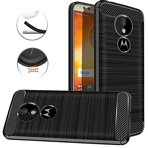 Moto G6 Play Case, Moto G6 Forge Case, Dretal Carbon Fiber Shock Resistant Brushed TextureAnti-fingerprint Flexible Soft TPU Phone Protective Cover Case For Motorola Moto G6 Play/Moto G6 Forge -Black Forge Phones
