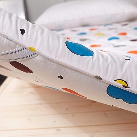 C&DIAN Colchones Cojín De Cama,Funda De Colchón,Estera De Rastreo,Esteras del Tatami Plegable Suelo Sleeping Pad para Estudiante Dormitorio Dormitorio-A 150x200cm(59x79inch)