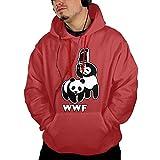 Okb-7 Men's Hooded Sweatshirt With Pockets WWF Funny Panda Bear Wrestling Hooded Sportswear Jackets