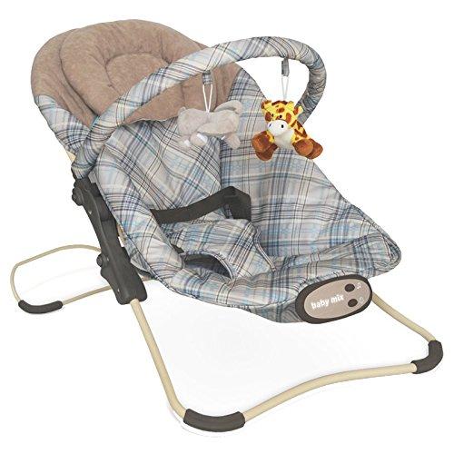 Babywippe mit Sound Braun 66x41x27cm 4U-Onlinehandel