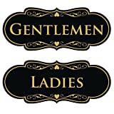 Designer LADIES GENTLEMEN (2-Pack) - Black / Gold Large