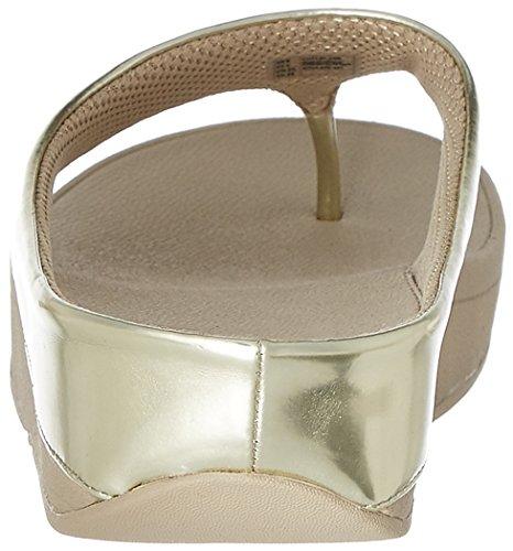 Espejo De Oro Sandalias Fitflop Timbre Del Dedo Del Pie-post Espejo Oro
