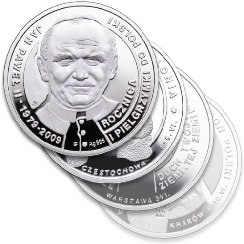 The Papal Collection: Pope John Paul II Series 925pf Silver Medals, Boxed Set of 3 by Polish Commemorative Medal Collection