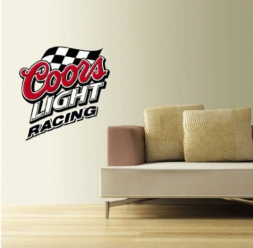 "Coors Light Racing Wall Decal Sticker 22"" x 22"""
