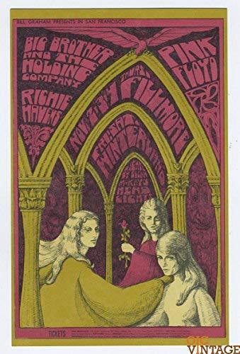 Bill Graham Postcard 91 Pink Floyd 1967 Nov 2