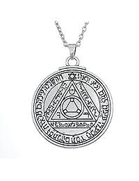 Fishhook Wicca Sixth Sun Pentacle Key of Solomon for Invisibility Talisman Pendant Neckalce