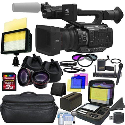 - Panasonic AG-UX180 4K Premium Professional Camcorder with CINEMAGIC Studio Bundle