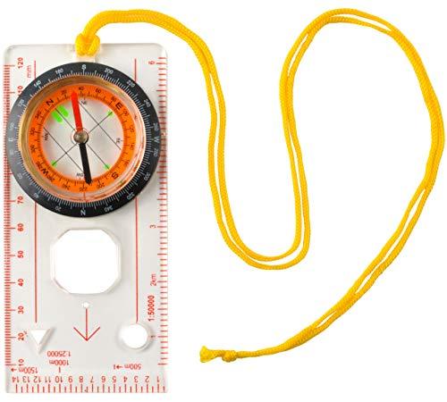 MALATEC Kompass Wasserdichter Taschenuhr Kartenkompass Magnetischer Steuerkurs Outdoor 7953