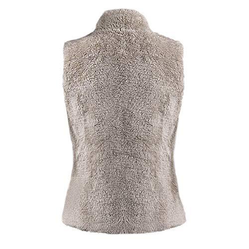 Veste Cardigan Manteaux D'hiver Manches Gilet Abricot Yacun Femmes Outwear Sans wRUqS4S