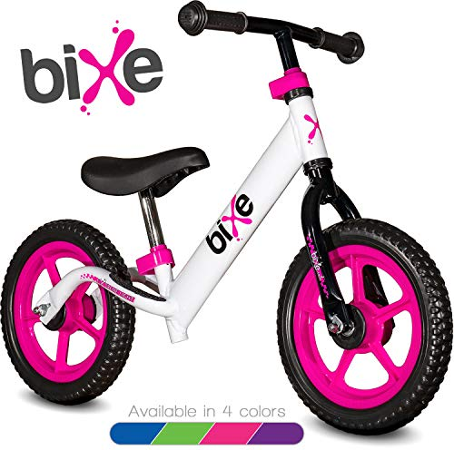 Pink (4LBS) Aluminum Balance Bike for Kids and Toddlers - 12