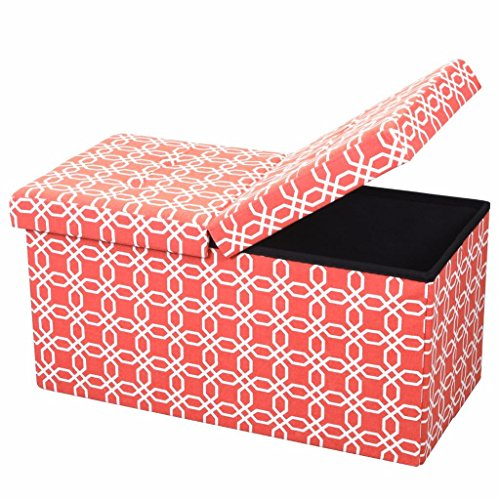 orange storage ottoman - 9