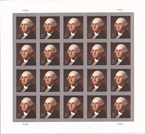 USPS George Washington - Sheet of Twenty 20 Cent Stamps Scott 4504 ()