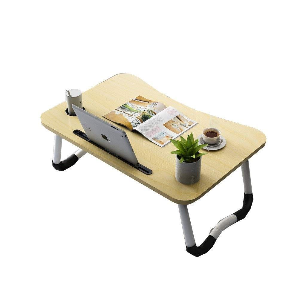 Dyljyf Ordinateur Portable Table Portable Multi-Fonction Table Pliante Table Carte Slot Cup Slot R/églable for Canap/é-Lit Terrasse Jardin Camping Color : A