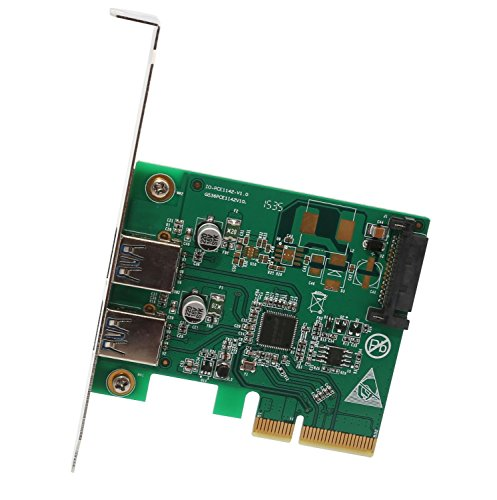 - I/O Crest 2 Port PCI Express x1 (PCIe) SuperSpeed USB 3.0 Card Adapter with UASP - SATA Power - Renesas Chipset
