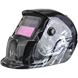 WELDTOOLS Welding Helmet Auto Darkening Solar Powered Weld/Grind Selectable Mask Protector for Arc Tig Mig Grinding Plasma Cutting