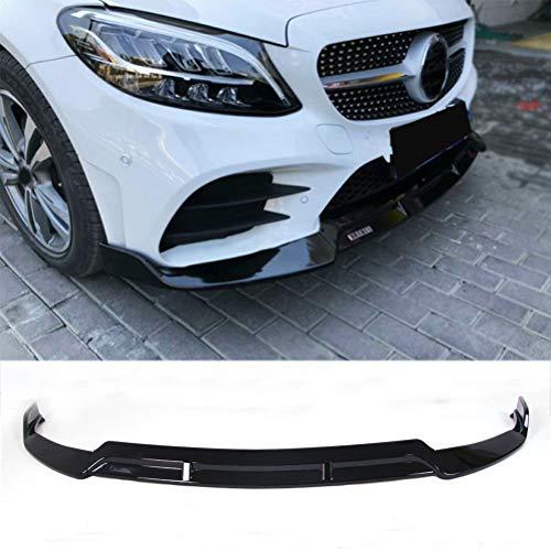 YOUNGERCAR Front Bumper Lip Gloss Black Compatible with 2019 Mercedes Benz C-Class W205 Standard Trim Spoiler Splitter Body Kit