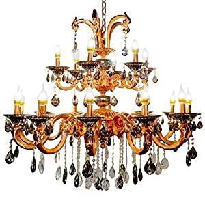BROWNISH GOLD PAINTING CHANDELIERS, 5402/12+6