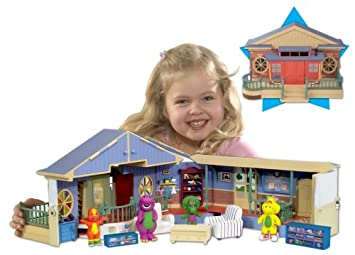 Barney Deluxe School House Playset Amazoncouk Toys Games