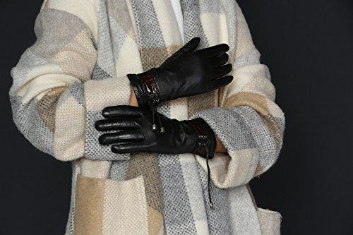 ロッテルダムModaレディースMS Genuineレザー総裏地付き冬手袋