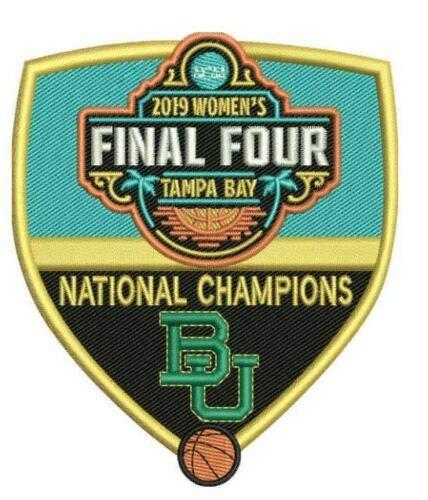 Final Baylor Lady Bears Basketball - 2019 Women's Final Four Champions Patch Lady Bears Patch BASKETBALL Championship Baylor PRE-Order Item - Shipping Begins April 17TH