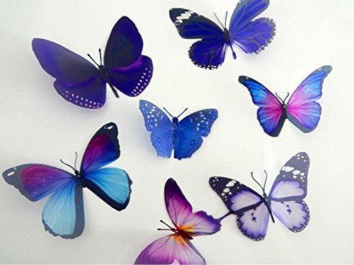 butterfly decor for the wall,conservatory 3d butterflies the Purple collection home,bedroom lounge,window decorations