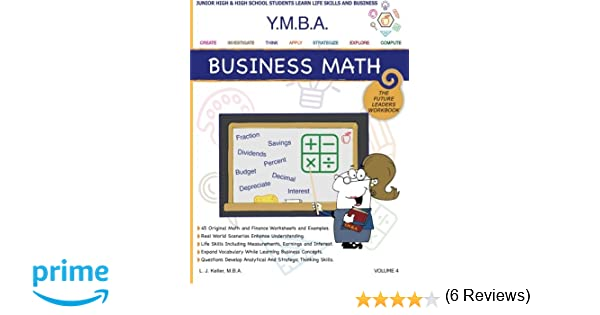 Counting Number worksheets math and money worksheets : Amazon.com: YMBA Business Math: YMBA Learning Workbook Series ...