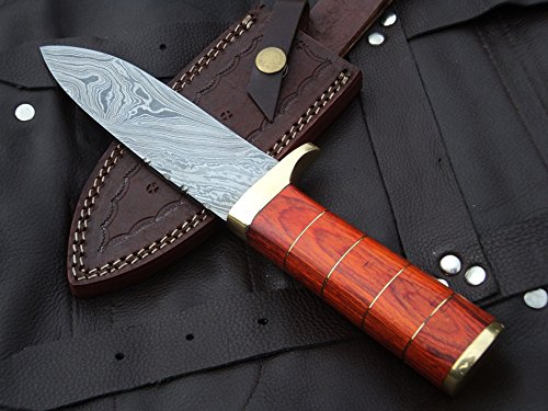 DKC-723 TRINITY Damascus Steel Bowie Hunting Handmade Knife Fixed Blade 11 oz 10 Long 5 Blade DKC KNIVES
