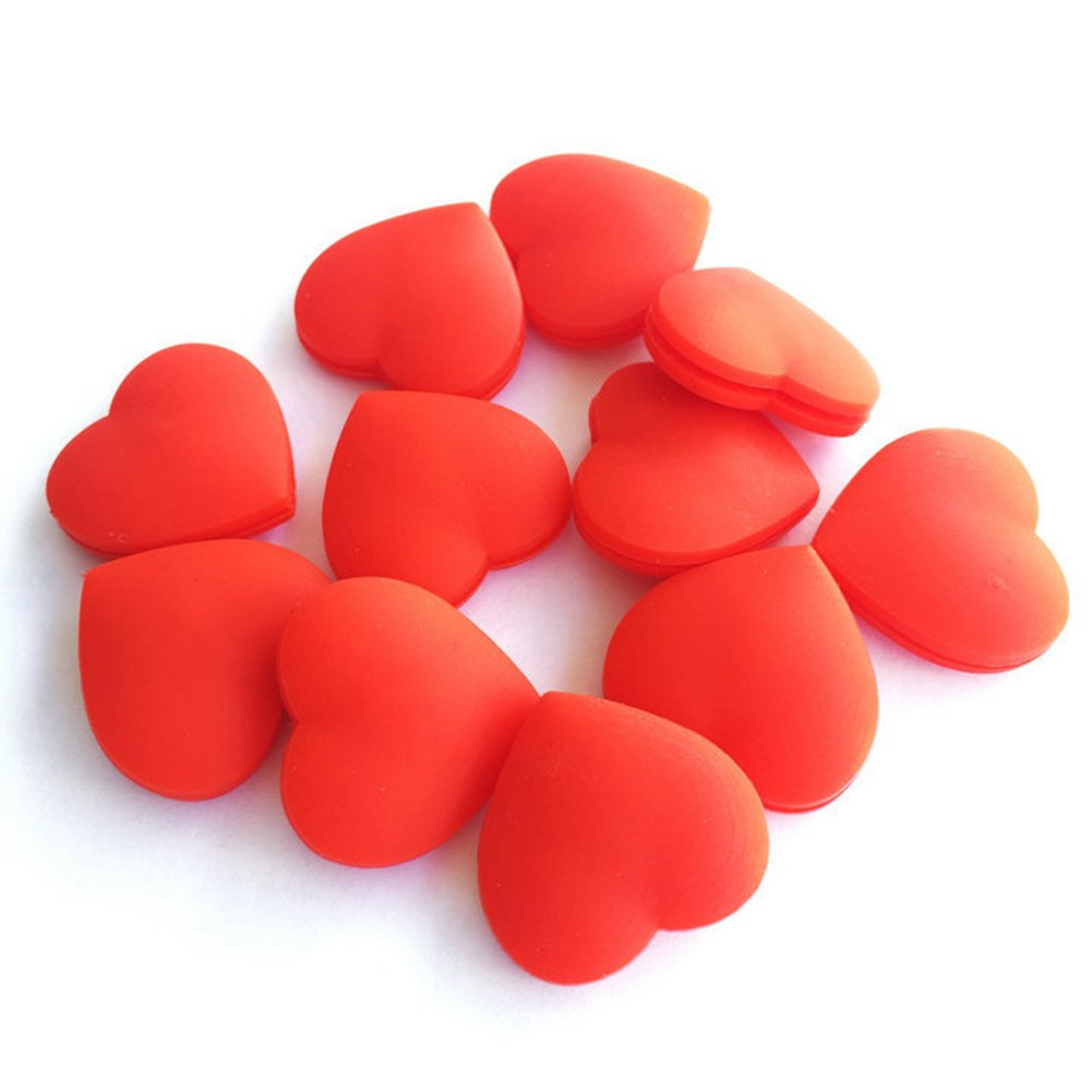 EMVANV racchetta da tennis Vibration Dampeners heart-shaped racchetta da tennis ammortizzatore vibrazioni Dampeners serranda sport accessori, red