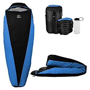 Outdoor Vitals OV Light 35 Degree Backpacking Sleeping Bag Lightweight And Compact For Hiking And Camping Ultralight Mummy Bag Design With Premium Insulation For 3 Seasons Includes