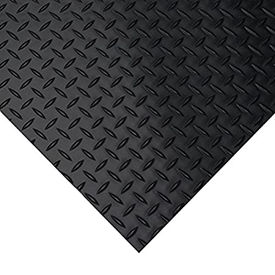 Diamond Plate Rubber Flooring Rolls, 3mm x 4ft Wide Rolls