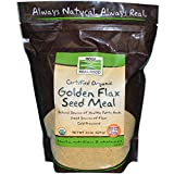 NOW Foods Real Food Organic Golden Flax Seed Meal -- 22 oz