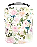 Premium Soft, Stretchy, and Spacious Multi-Use Cover for Nursing, Baby Car Seat, Stroller, Scarf, and Shopping Cart - Best Gifts by Pobibaby (Allure)