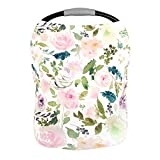 Premium Soft, Stretchy, and Spacious 4 in 1 Multi-Use Cover for Nursing, Baby Car Seat, Stroller, Scarf, and Shopping Cart - Best Gifts by Pobibaby (Allure)