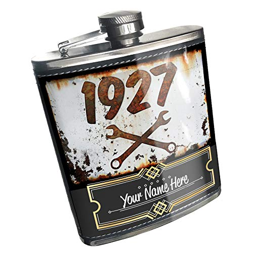 1927 Car - Neonblond Flask Rusty old look car 1927 Custom Name Stainless Steel