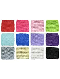 Hairbows Unlimited Crochet Baby Headbands Stretchy Soft Variety Pack Assortments