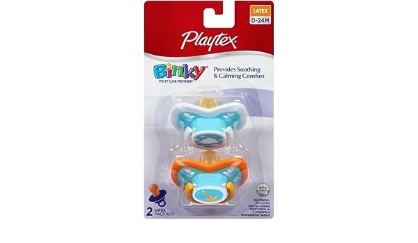 Amazon.com : BinkyLatex Chupete, 0-24 Meses, 2-Conde : Baby