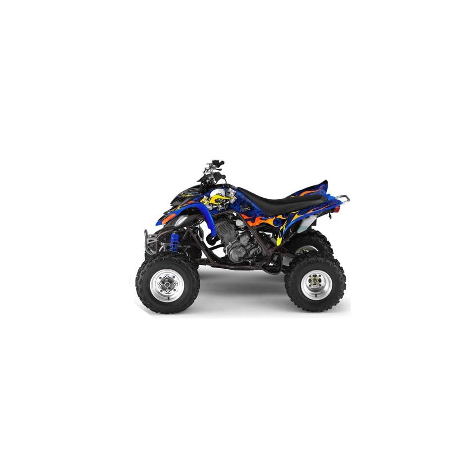 AMR Racing Yamaha Raptor 660 ATV Quad Graphic Kit   Motorhead Blue