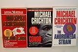 3 Michael Crichton Paperbacks-