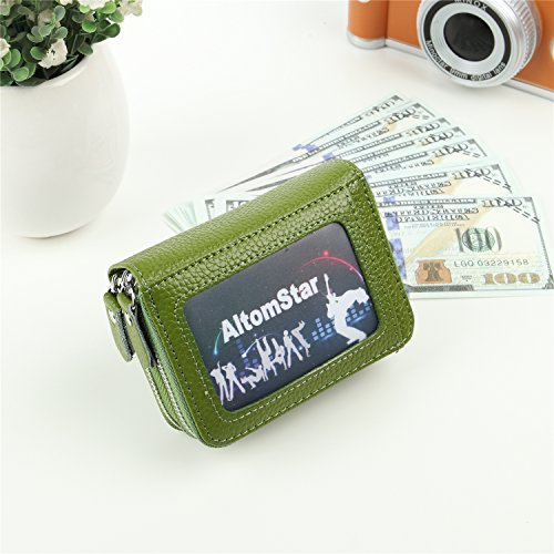 Credit Colors Men Genuine Holder Pocket 2 Coin Credit for Card 9 Wallets Green Women Card Sapphire Leather Blue with zgqdCnI