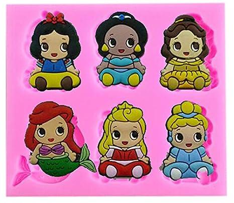 Amazon.com: Bebé Princesas Disney molde de silicona ...
