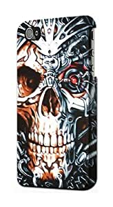 S0224 Skull Iron Terminator Case Cover for Iphone 5 5s by lolosakes