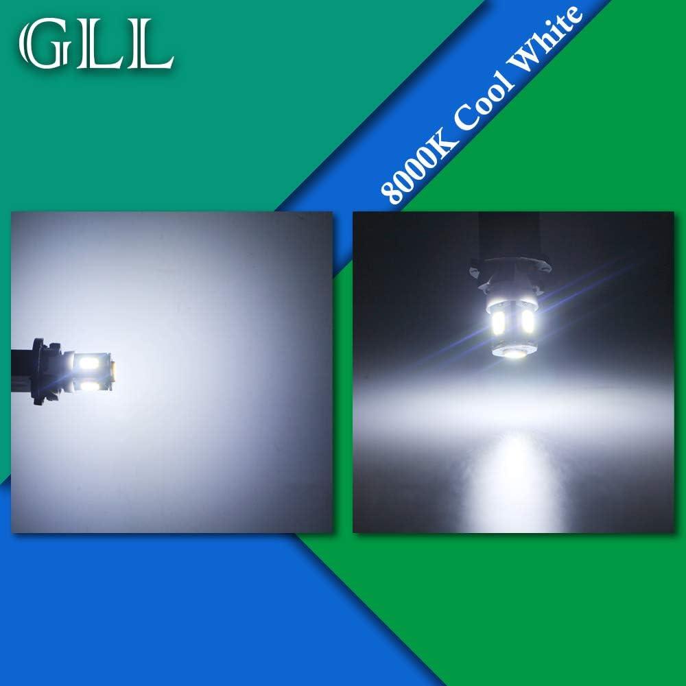Grandview 10pcs Azul T10 194 168 W5W 501 Bombillas LED con 5-5630-SMD para el Interior del Autom/óvil Mapa de C/úpula Puerta Tablero de Instrumentos Tronco Cortes/ía Luces de la Placa de Matr/ícula