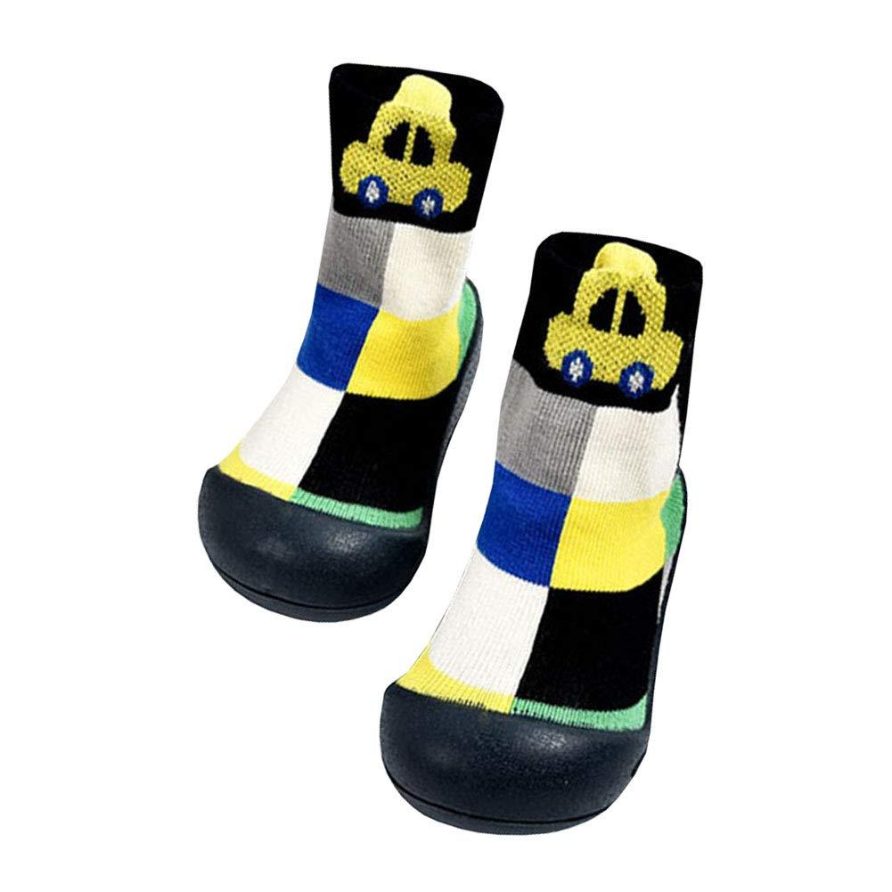 LSERVER bambino bambini ragazzi ragazze carino cartoon Soft non-skid pantofola calzini neonato non-slip traspirante Walking SOC K scarpe
