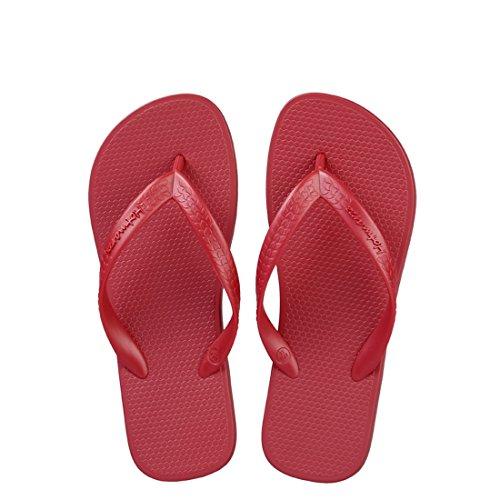 Hotmarzz Chanclas para Mujer Planas Sandalias Verano Playa Zapatillas Piscina Flip Flops Rojo