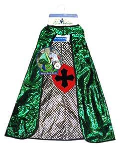 Grandes imitaciones - capa reversible para disfraz de Dragón o Caballero (de 4/6 años) - altura 107-122, cintura 53-61