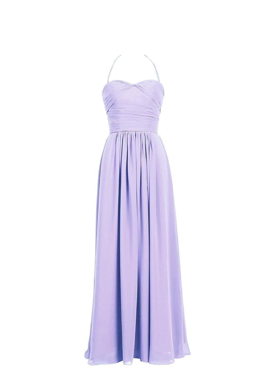YiYaDawn Women's Long Halter Bridesmaid Dress Formal Evening Ball Gown