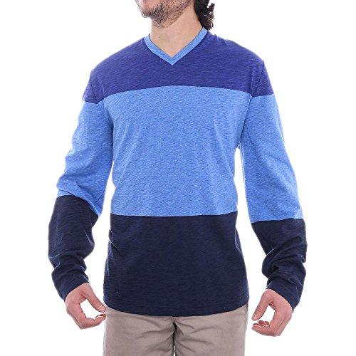perry-ellis-long-sleeve-v-neck-t-shirt-men-regular-us-m-blue-basic-t-shirt
