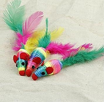 Kris carpintero lindo gato mascota tejido ratón cuerda Masticar juguete: Amazon.es: Productos para mascotas